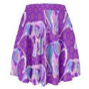 Cute Violet Elephants Pattern High Waist Skirt View2