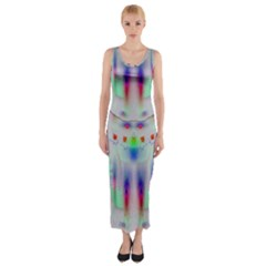 Rainbows In The Moonshine Fitted Maxi Dress