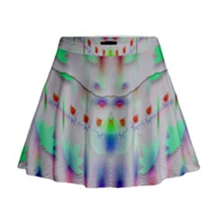 Rainbows In The Moonshine Mini Flare Skirt