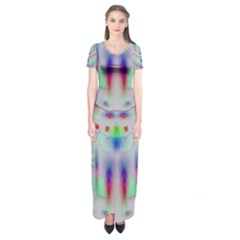 Rainbows In The Moonshine Short Sleeve Maxi Dress