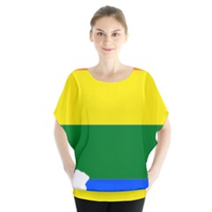 Lgbt Flag Map of Illinois Blouse