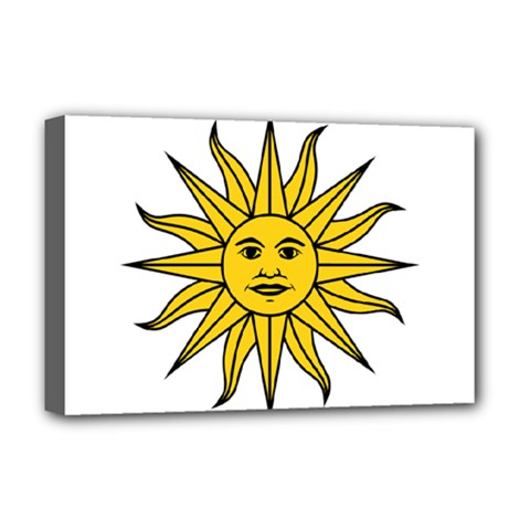 Uruguay Sun of May Deluxe Canvas 18  x 12