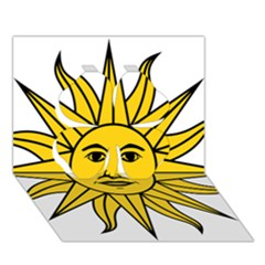 Uruguay Sun of May Clover 3D Greeting Card (7x5)