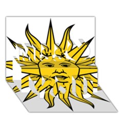 Uruguay Sun of May Miss You 3D Greeting Card (7x5)