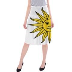 Uruguay Sun of May Midi Beach Skirt