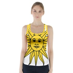 Uruguay Sun Of May Racer Back Sports Top