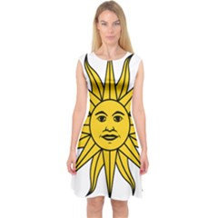 Uruguay Sun Of May Capsleeve Midi Dress