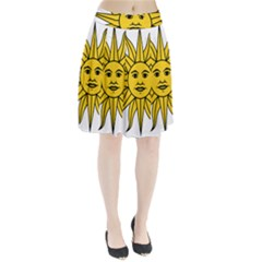 Uruguay Sun of May Pleated Skirt