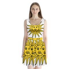 Uruguay Sun of May Split Back Mini Dress
