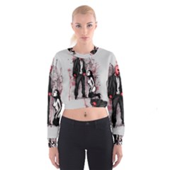 Say Please Women s Cropped Sweatshirt