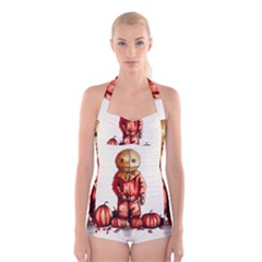 Trick R Treat Sam Boyleg Halter Swimsuit