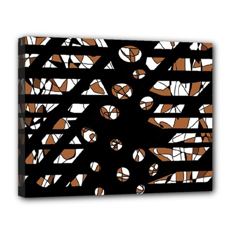 Brown freedom  Canvas 14  x 11