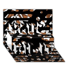Brown freedom  You Did It 3D Greeting Card (7x5)