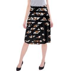 Brown freedom  Midi Beach Skirt