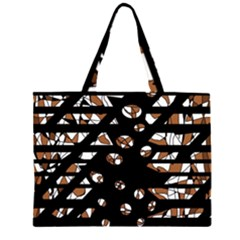 Brown freedom  Large Tote Bag