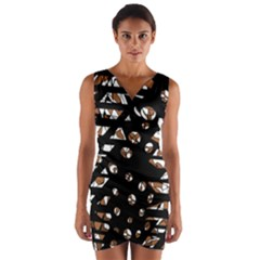 Brown freedom  Wrap Front Bodycon Dress