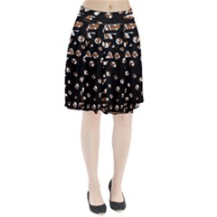 Brown freedom  Pleated Skirt