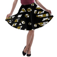 Green freedom A-line Skater Skirt
