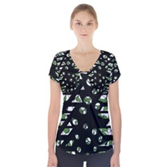 Freedom Short Sleeve Front Detail Top