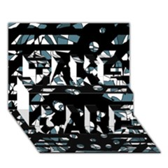 Blue freedom TAKE CARE 3D Greeting Card (7x5)