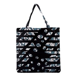 Blue freedom Grocery Tote Bag