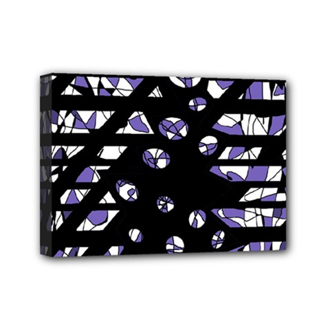 Purple freedom Mini Canvas 7  x 5