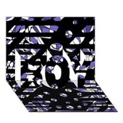 Purple freedom BOY 3D Greeting Card (7x5)