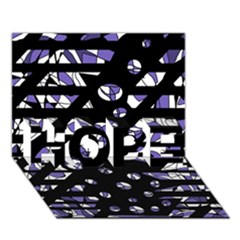 Purple freedom HOPE 3D Greeting Card (7x5)
