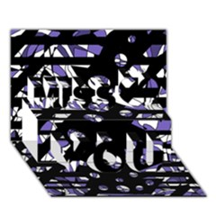 Purple Freedom Miss You 3d Greeting Card (7x5)