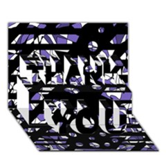 Purple freedom THANK YOU 3D Greeting Card (7x5)