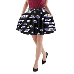 Purple freedom A-Line Pocket Skirt