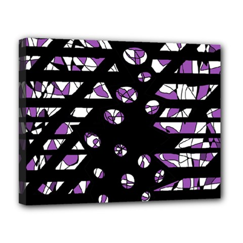Violet freedom Canvas 14  x 11