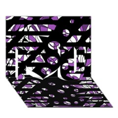 Violet freedom I Love You 3D Greeting Card (7x5)