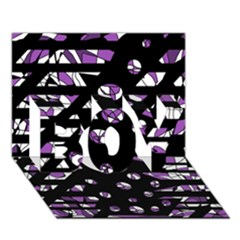 Violet freedom BOY 3D Greeting Card (7x5)