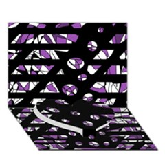Violet freedom Heart Bottom 3D Greeting Card (7x5)