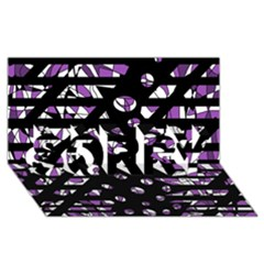 Violet freedom SORRY 3D Greeting Card (8x4)