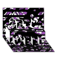 Violet freedom Get Well 3D Greeting Card (7x5)