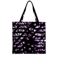 Violet freedom Zipper Grocery Tote Bag
