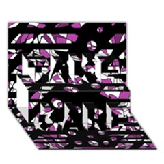 Magenta freedom TAKE CARE 3D Greeting Card (7x5)