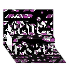 Magenta freedom You Rock 3D Greeting Card (7x5)
