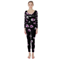 Magenta freedom Long Sleeve Catsuit