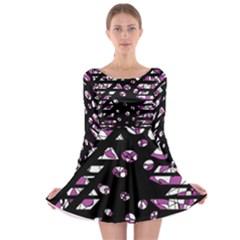 Magenta freedom Long Sleeve Skater Dress