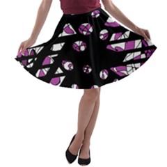 Magenta freedom A-line Skater Skirt