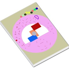 Decorative abstract circle Large Memo Pads