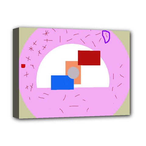 Decorative abstract circle Deluxe Canvas 16  x 12