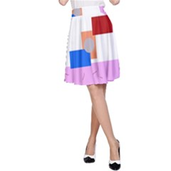 Decorative abstract circle A-Line Skirt