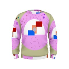 Decorative abstract circle Kids  Sweatshirt