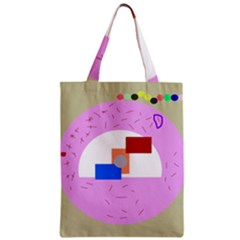 Decorative abstract circle Zipper Classic Tote Bag