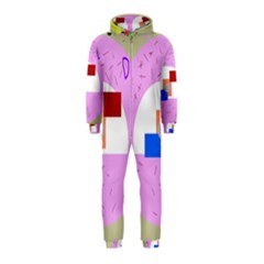 Decorative abstract circle Hooded Jumpsuit (Kids)