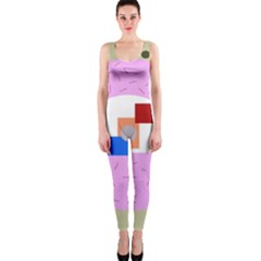 Decorative abstract circle OnePiece Catsuit